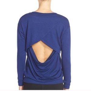 BEYOND YOGA • Open Back Crew Neck Sweater Sz S